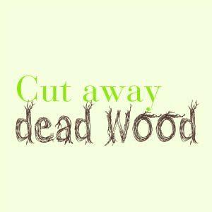 Cut away dead wood